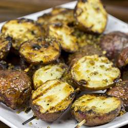 Garlic Rosemary Grilled Potatoes