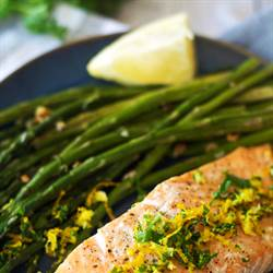 Salmon with Citrus Gremolata and Roasted