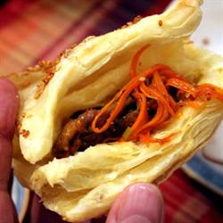 Chinese Chili Beef with Puff Pastry Pocket