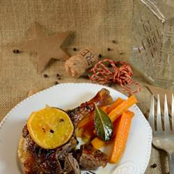 Roasted duck with orange and cider