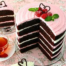Chocolate Cake with Raspberry Frosting