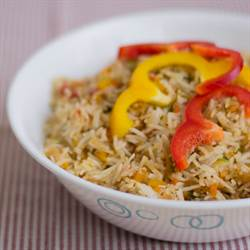 Indian Bell Pepper Fried Rice