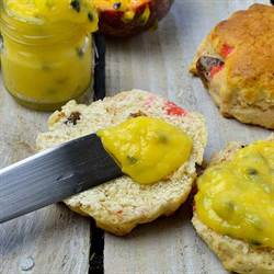 Passion Fruit Curd with Scones (2)