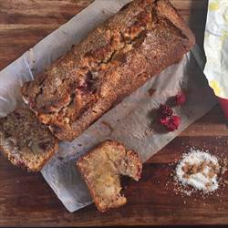 Pear, Coconut and Raspberry Bread (1)