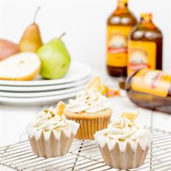 Ginger Beer Cupcakes with Pear Frosting