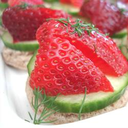 Strawberry & Cucumber Tea Sandwiches