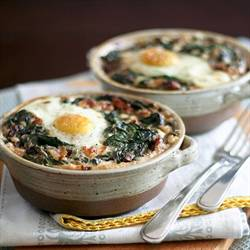 Spinach and Buckwheat Egg Bake
