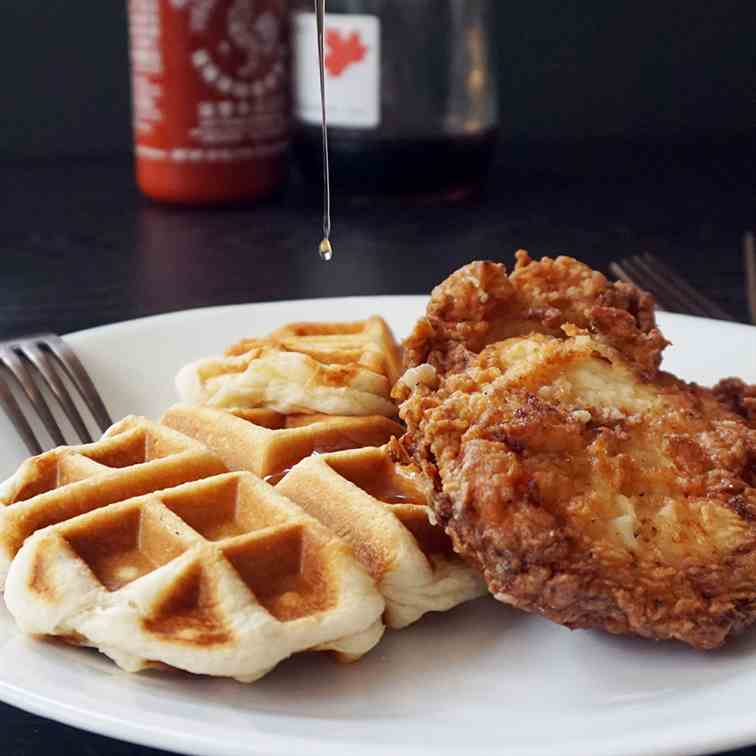 Easy buttermilk chicken and waffles