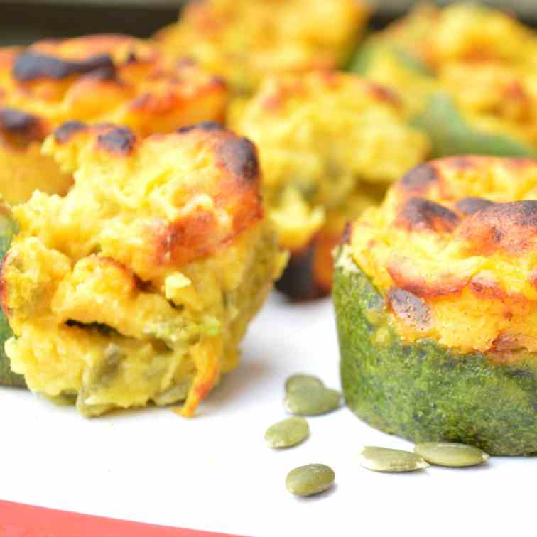 Pumpkin - Spinach Cups