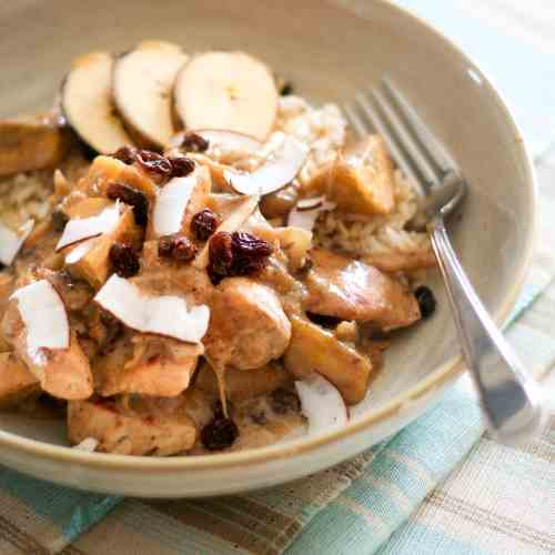 Plantain Chicken over Brown Rice