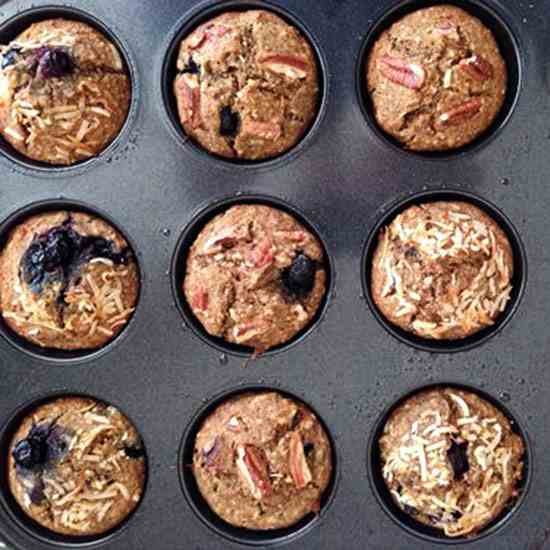 Banana - Blueberry Muffins
