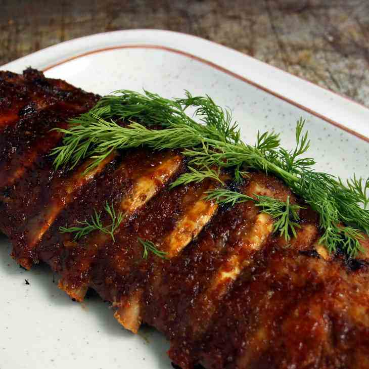 AIP Baked Honey Ginger Pork Ribs Recipe