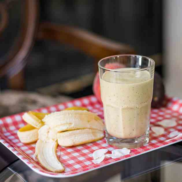 After-Workout Peach Banana Protein Shake