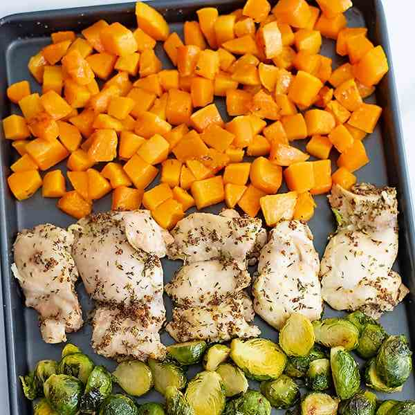 Sheet Pan Dijon Chicken Thighs