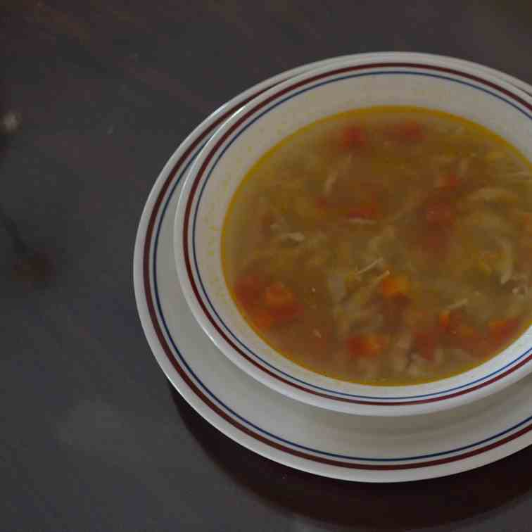 Winter Soup with Chicken and Vegetables
