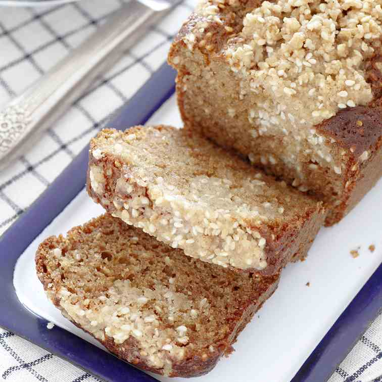 Tahini Honey Cake with Sesame Streusel