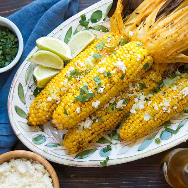 Grilled Chipotle Lime Corn