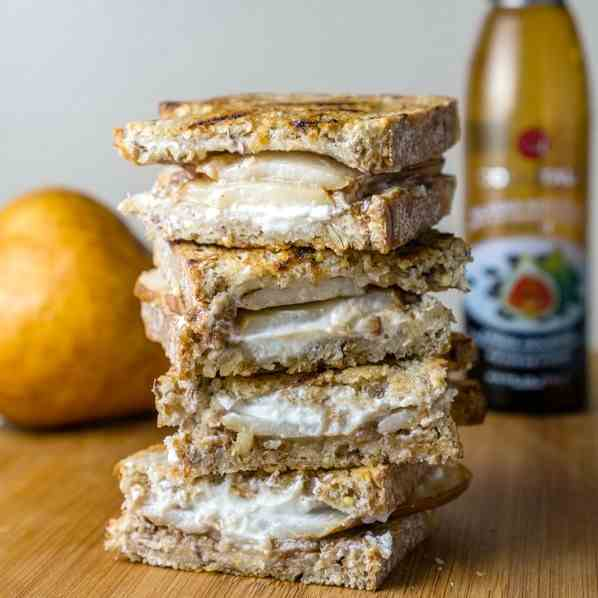 Pear - Goat Cheese Grilled Cheese