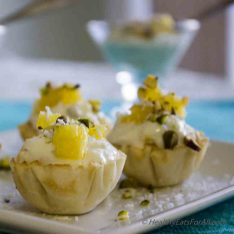 Pineapple Pistachio Greek Yogurt Bites