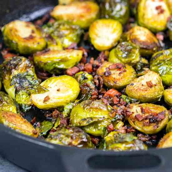Roasted Brussels Sprouts & Pancetta