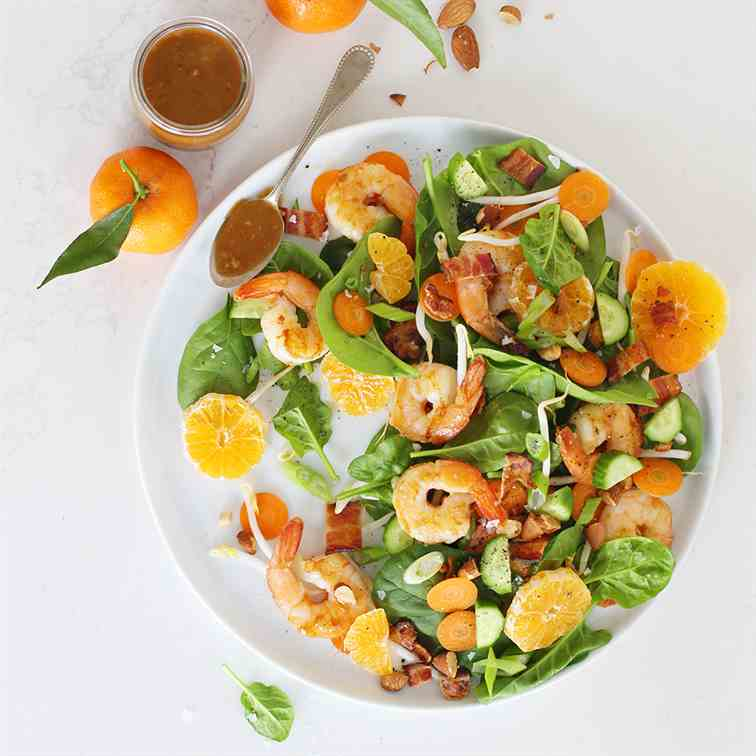 Marmalade Shrimp and Bacon Salad