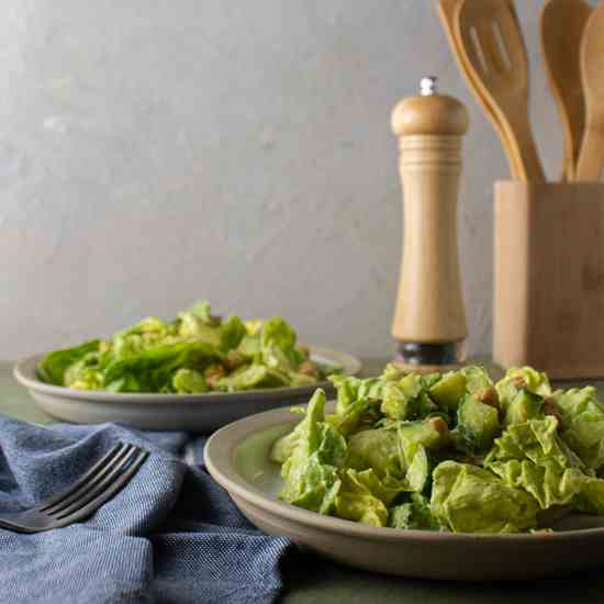 Summer Salad with Avocado Dressing