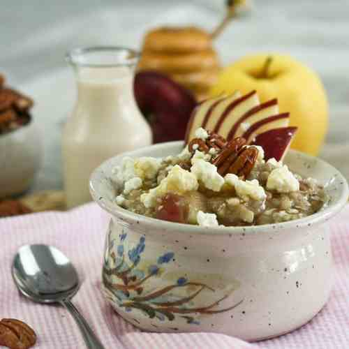 Apple, Raisin and Goat Cheese Oatmeal