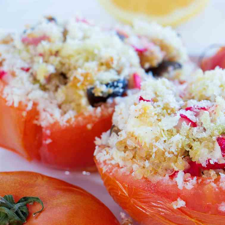 Cous Cous Stuffed Tomatoes