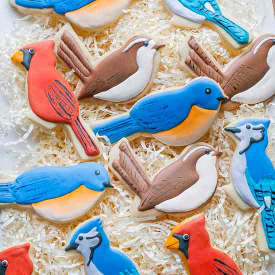 Backyard Bird Cookies