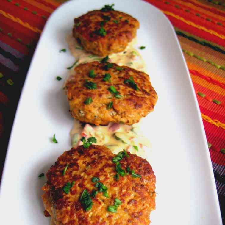 Thai red curry chicken burgers