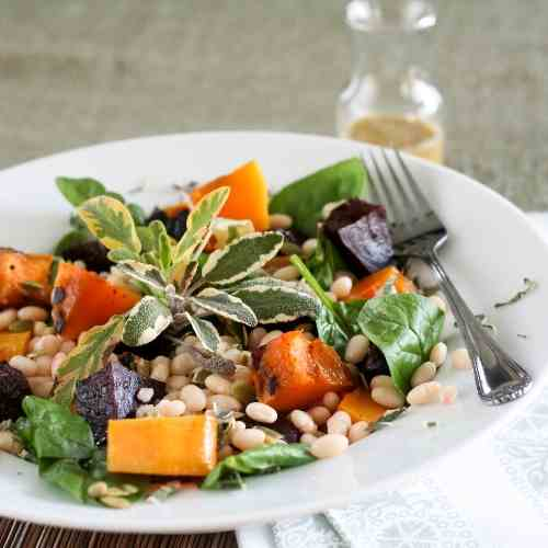 White Beans, Roasted Beets and Squash