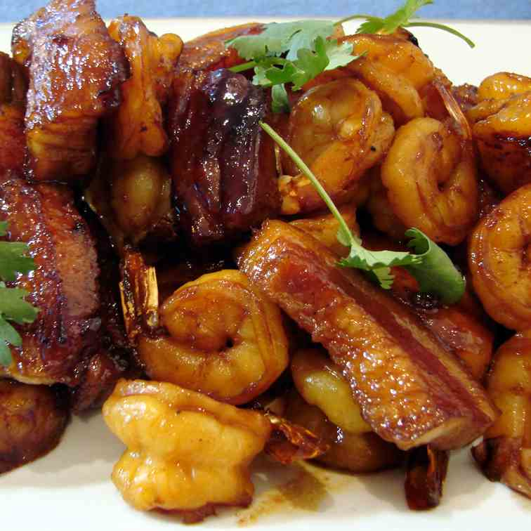 Caramelized Pork Belly and Shrimp