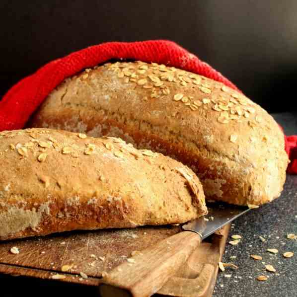 Wholewheat Bread with Oats