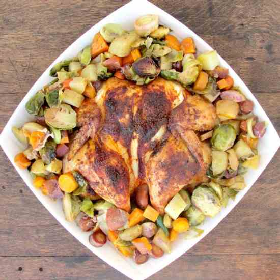Roast Chicken with Harvest Vegetables