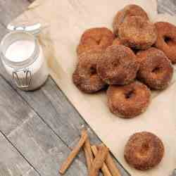 Baked Pumpkin Maple Doughnuts