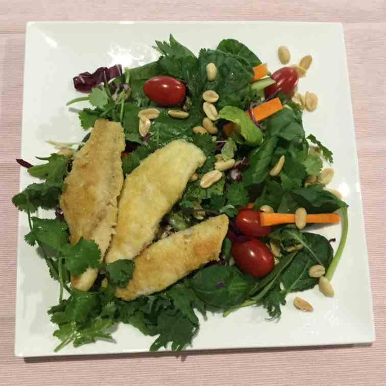 Keto Fish Fillets with Thai Salad