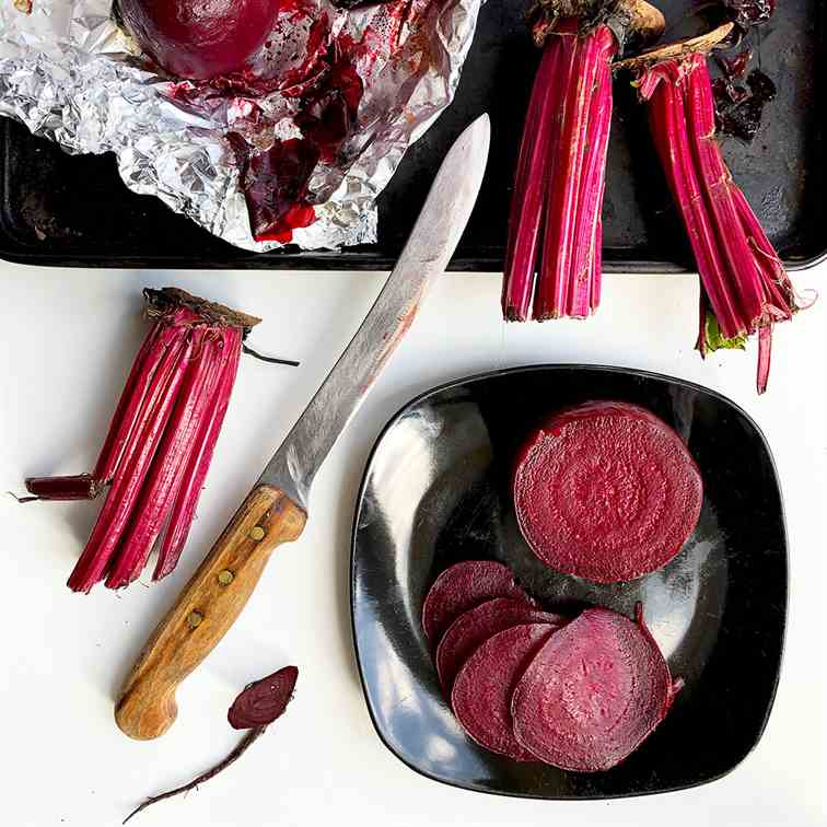 Whole Beetroot Roasted in Foil
