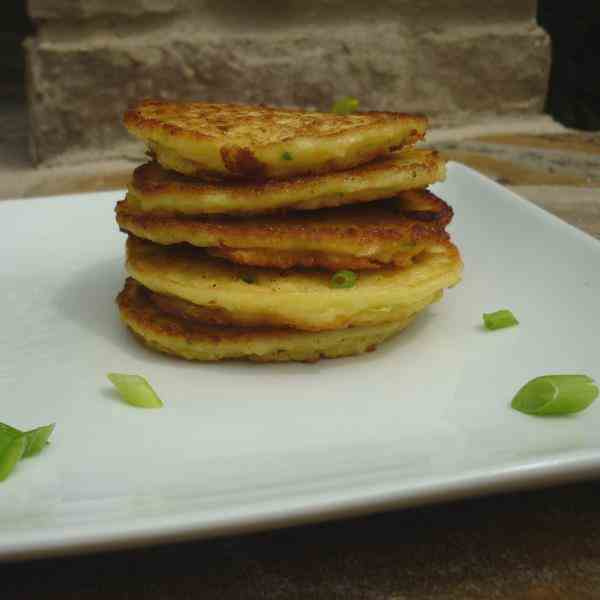 Corn fritters with jalapeno