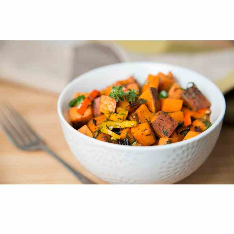 Paleo Sweet Potato Hash In The Slow Cooker