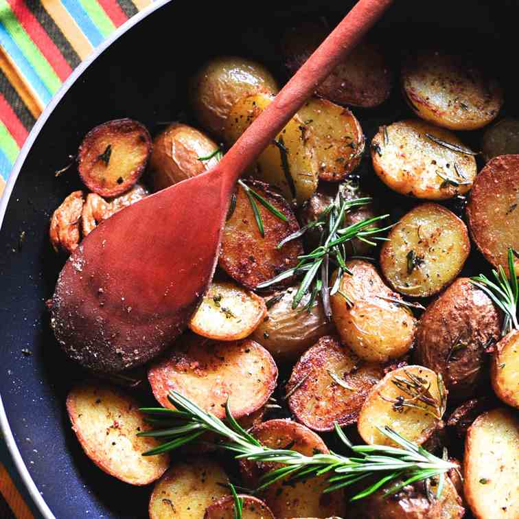 Pan-Fried Baby Potatoes