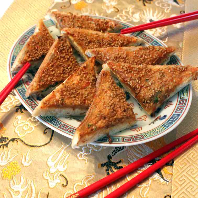 Chinese Shrimp Toast with Sesame