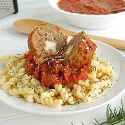 Cheesy Mozzarella Stuffed Meatballs