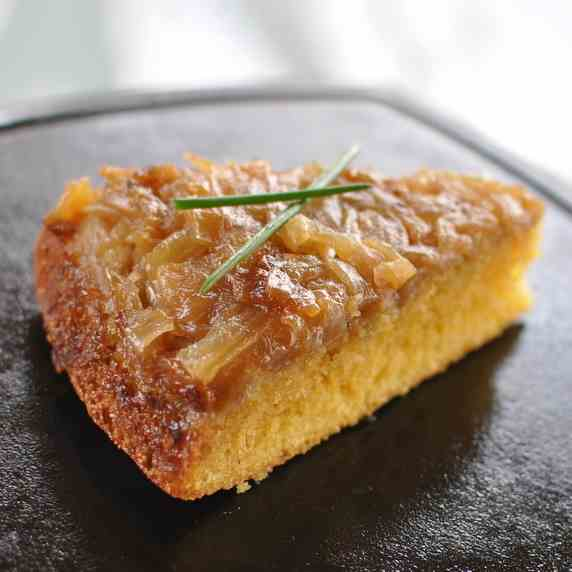 Caramelized Onion Upside-Down Cornbread