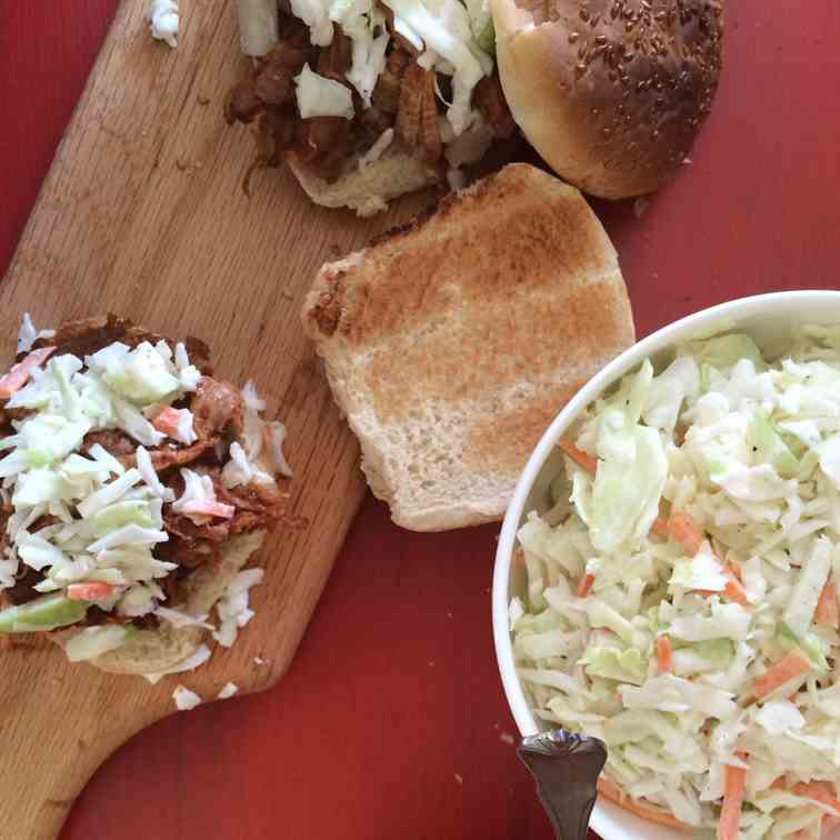 BBQ Pulled Pork with Apple Slaw