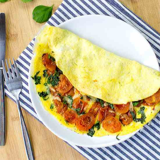 Easy Tomato Omelette - Perfect Every Time
