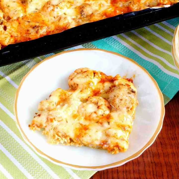 Cauliflower Sheet Pan Pizza