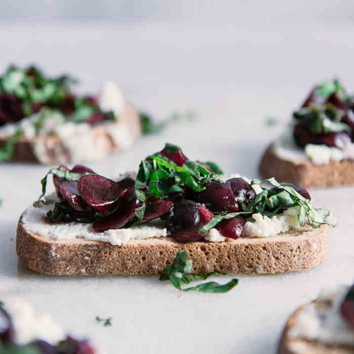 Black Cherry Basil Ricotta Toast