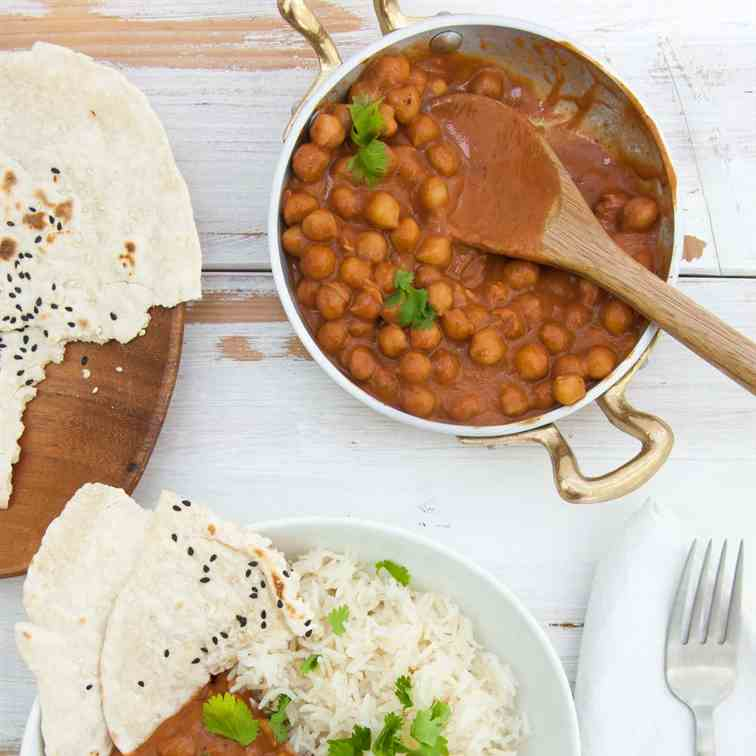 15-Minute Vegan Chickpea Curry