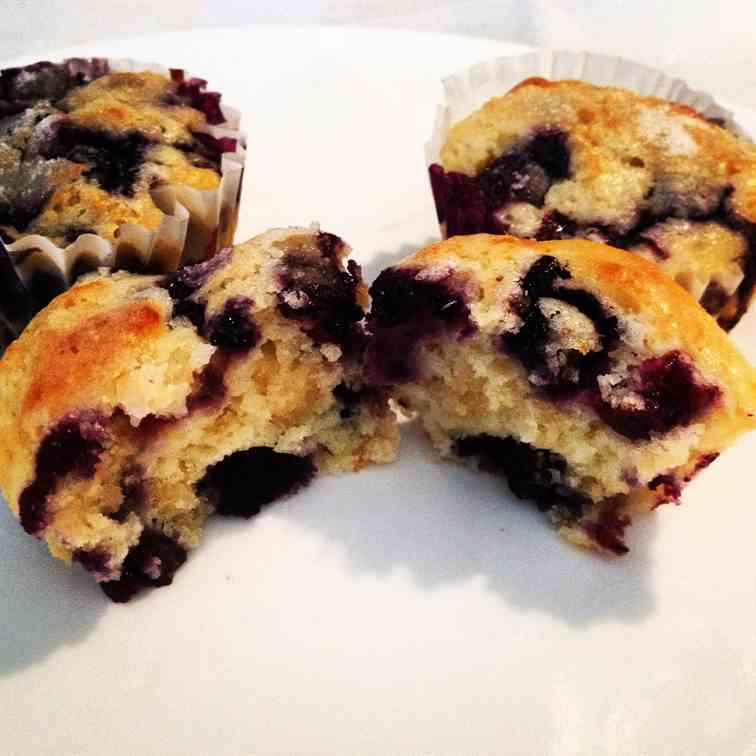 Better than Bakery Blueberry Muffins