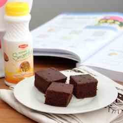 Brownie made with yogurt